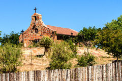 Stone Church in New Mexico Stock Image