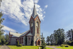 Stone church. Old stone church is located in Karelia of Finland stock photos