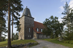 Stone church. Old stone church in western Finland stock image