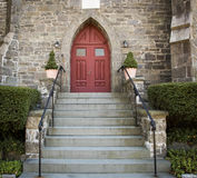 Stone Church Red Door Stock Images