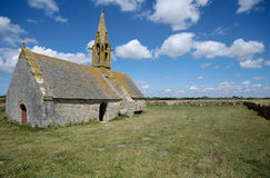 Stone church of Saint Vio in Brittany France Royalty Free Stock Photo