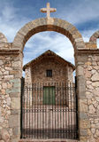 Stone church of San Cristobal, Bolivia Royalty Free Stock Photos