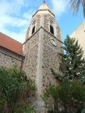 Stone church tower Royalty Free Stock Photo