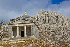 Stone church on Velebit mountain. Near Tulove grede, Croatia Royalty Free Stock Images