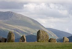 Stone circle. Castlerigg stone circle, English Lake District Royalty Free Stock Images