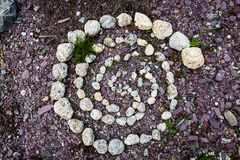 Stone spiral in the Alps Royalty Free Stock Photography