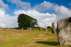 Stone circle in Avebury. Great Britain Royalty Free Stock Photos