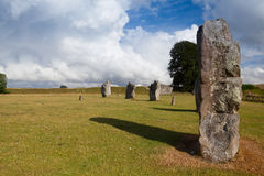 Stone circle in Avebury. Great Britain Stock Images