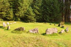 Stone Circle on Dartmoor stock photos