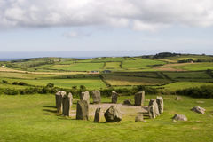Stone Circle at Drombeg. An ancient stone circle at Dombeg in County Cork in the southern part of Ireland. Stone circles were characteristic of the Bronze Age royalty free stock photography
