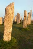 Stone circle in evening light Stock Photo