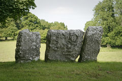 Stone Circle Monoliths. Several large stone monoliths from an ancient Celtic stone circle near the village of Cong in Ireland stock image