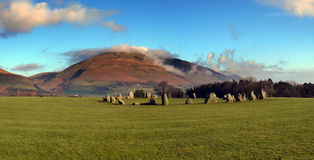 Stone Circle Panorama Royalty Free Stock Photos