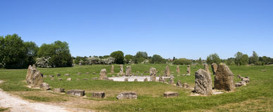 Stone circle panorama milton keynes uk Royalty Free Stock Photo