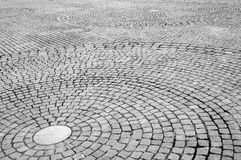 Stone circle paving Royalty Free Stock Photos