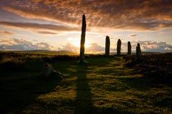 Stone circle at ring of brodgar Royalty Free Stock Photos