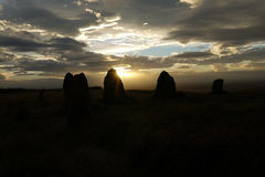 Stone circle silhouette Stock Images