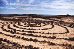 Stone circles in Lanzarote. Canary Islands, Spain Stock Photos