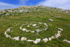 Stone circles  in the mountains Royalty Free Stock Photography