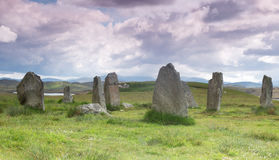 Stone cirle on Outer Hebrides Royalty Free Stock Photography