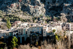 Stone city in Provence, France Royalty Free Stock Images