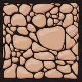 Stone cladding. Vector texture set. Royalty Free Stock Photos