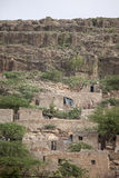 Stone cliff dwellings in Africa Royalty Free Stock Photos