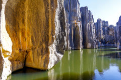 Stone cliff at Stone Forest. Near Kunming in China Royalty Free Stock Photography