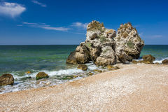 Stone cliffs on the coast. And blue sky Stock Photography