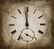 Stone clock Royalty Free Stock Image