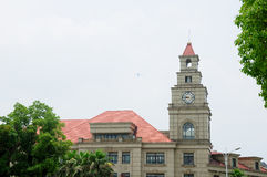 Stone Clock Tower Shanghai China Stock Image