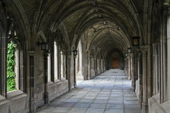 Stone cloister Royalty Free Stock Image