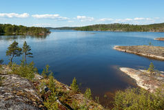 Stone coast. One of straits of Ladoga lake in an environment of stone coast Royalty Free Stock Photo