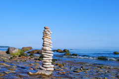 Stone coast Royalty Free Stock Images