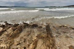 Stone coast on Adriatic sea. Stock Image