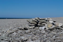 Stone coast at Gotland, Sweden Stock Photo