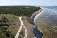 Stone coast at the island of Gotland,Sweden, in the Baltic sea. The popular toursit area the stone coast on the island of Gotland in the Baltic sea Stock Photography