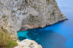 Stone coast of Zakynthos Stock Image