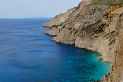 Stone coast of Zakynthos Stock Photos