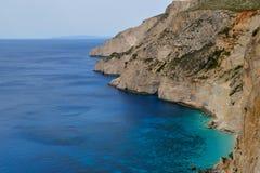 Stone coast of Zakynthos Stock Photos