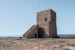 Coastal watch tower in malta. Stone coastal watch tower in malta Stock Photos