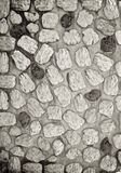 Stone Cobble Wall. With textured stones royalty free stock images