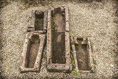 Stone Coffins Royalty Free Stock Photos