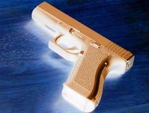 Stone Cold Nine. 9mm handgun royalty free stock image