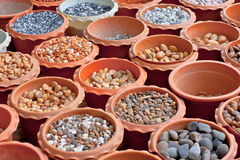 Stone Color. A stone or stone color is a piece of mineral, which, in cut and polished form, is used to make color or other adornments Stock Photo