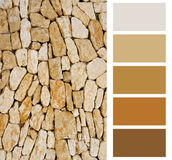Stone color palette. Swatches with complimentary royalty free stock image
