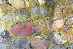 Stone texture, background, sunny day Royalty Free Stock Image