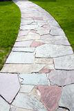 Stone Color Walkway Royalty Free Stock Photo