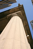 Stone Column. A stone column on a buidling in the financial disctrict of NYC stock photo