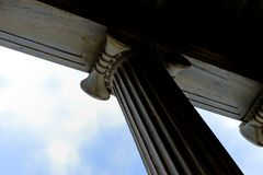 Stone column against sky Stock Image